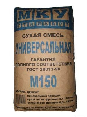 Сухая смесь универсальная М-150 МКУ (40кг.)