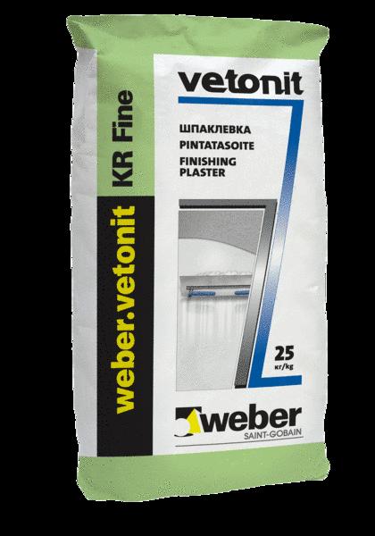 Weber Vetonit KR Fine шпаклевка суперфинишная (25кг)