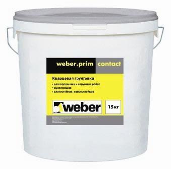 Weber prim contact - Грунт кварцевый для внутренних работ (15 кг)